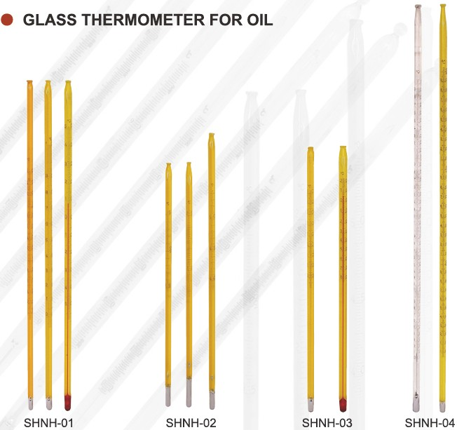 Mercury - Filled GlassOil Laboratory Thermometers For Testing Petroleum Products