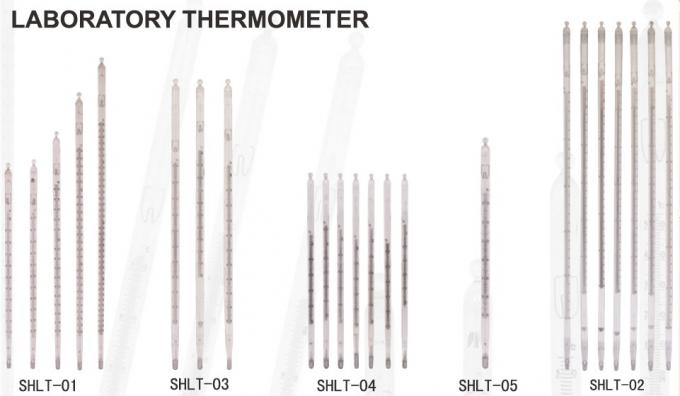 Enclosed Scale Liquid - In - Glass Laboratory Thermometers For Industry , Agriculture