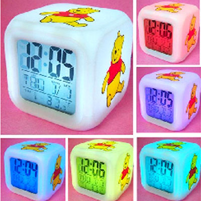 2014 New 7 LED Color Change Digital ALARM CLOCK Thermometer