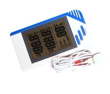 Calendar Alarm Indoor Outdoor LCD Digital Thermometer For kitchen Hygrometer