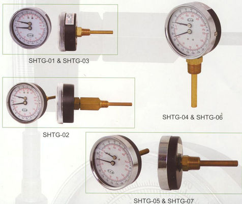 Good Quality Dial 80mm Tridicator Gauge , Temperature Gauge For Hot Water Boilers Sales