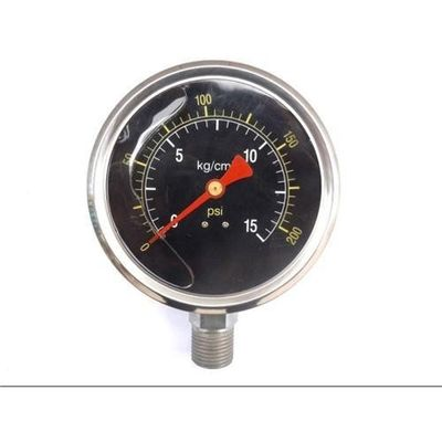 Good Quality oil stainless steel staianless steel pressure gauge For the measurement of gaseous, liquid Sales