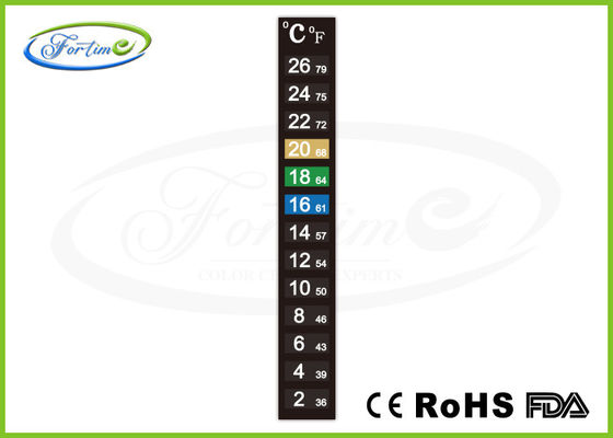 Best High Precision Heat Sensitive Color Changing Thermometer Strip for Measure Room Temperature