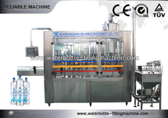 24 Heads Water Bottle Filling Machine Glass Juice Bottle Washing Equipment PLC Control