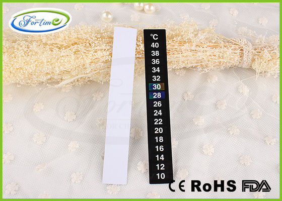 Eco-friendly Promotional Feverscan LCD Thermometer Strip for Wine / Freezer / Milk Bottle Labels supplier