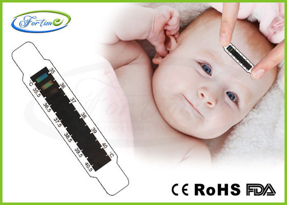 OEM Health Care LCD Fever Medical Forehead Thermometer Strip 35 ~ 40℃ Heat Sensitive supplier