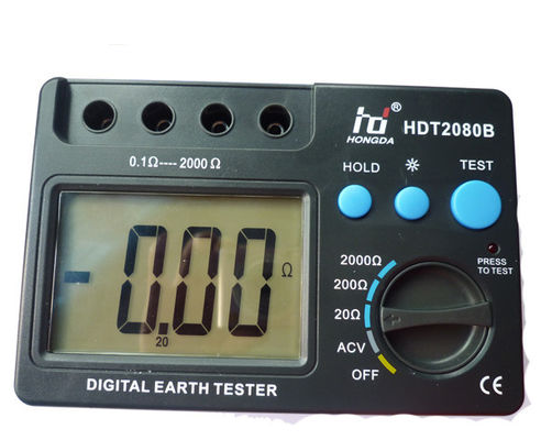 Manual range earth resistance tester Test lock earth loop impedance tester