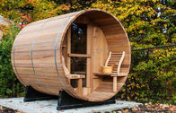 Custom circular dry heat sauna cabins for home / garden / green roofs