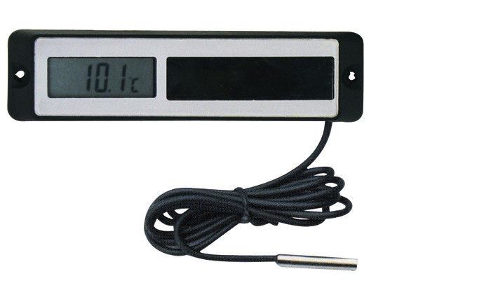 "2"" Round Solar Powered Remote Reading LCD Digital Thermometer For Refrigerators, Freezers"