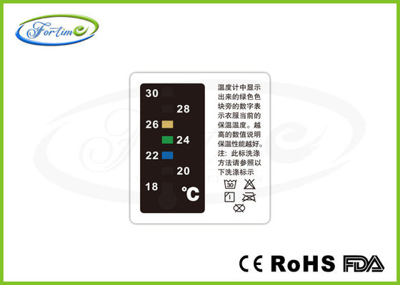 China Reusable Heat Sensitive Garment Liquid Crystal Thermometer for Warmth Care 18 ~ 30 ℃ distributor